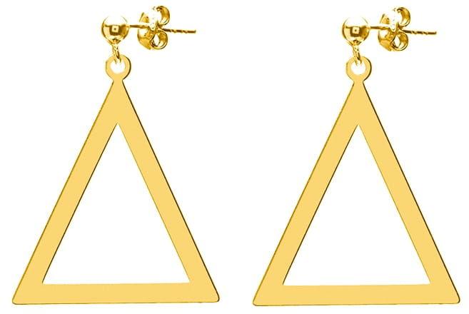 Kolczyki duże trójkąty