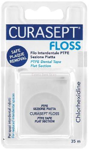 Curasept Floss nić dentystyczna PTFE pokryta teflonem 35 m