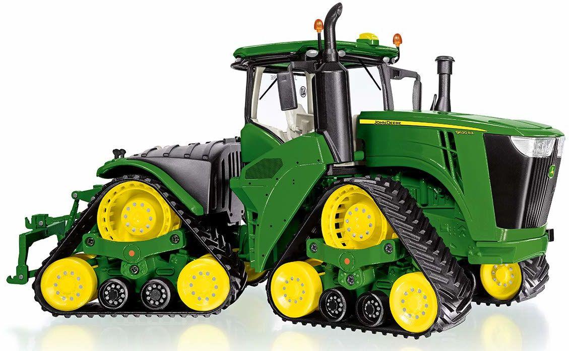 Wiking 077849 John Deere 9620RX traktor modelowy, 1:32, metal/tworzywo sztuczne, od 14 lat, wiele funkcji, 4 bieżące mechanizmy gąsienicowe, ruchomy przegub zginany