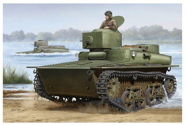 Radziecki Czołg T37 Amphibious model do sklejania HobbyBoss