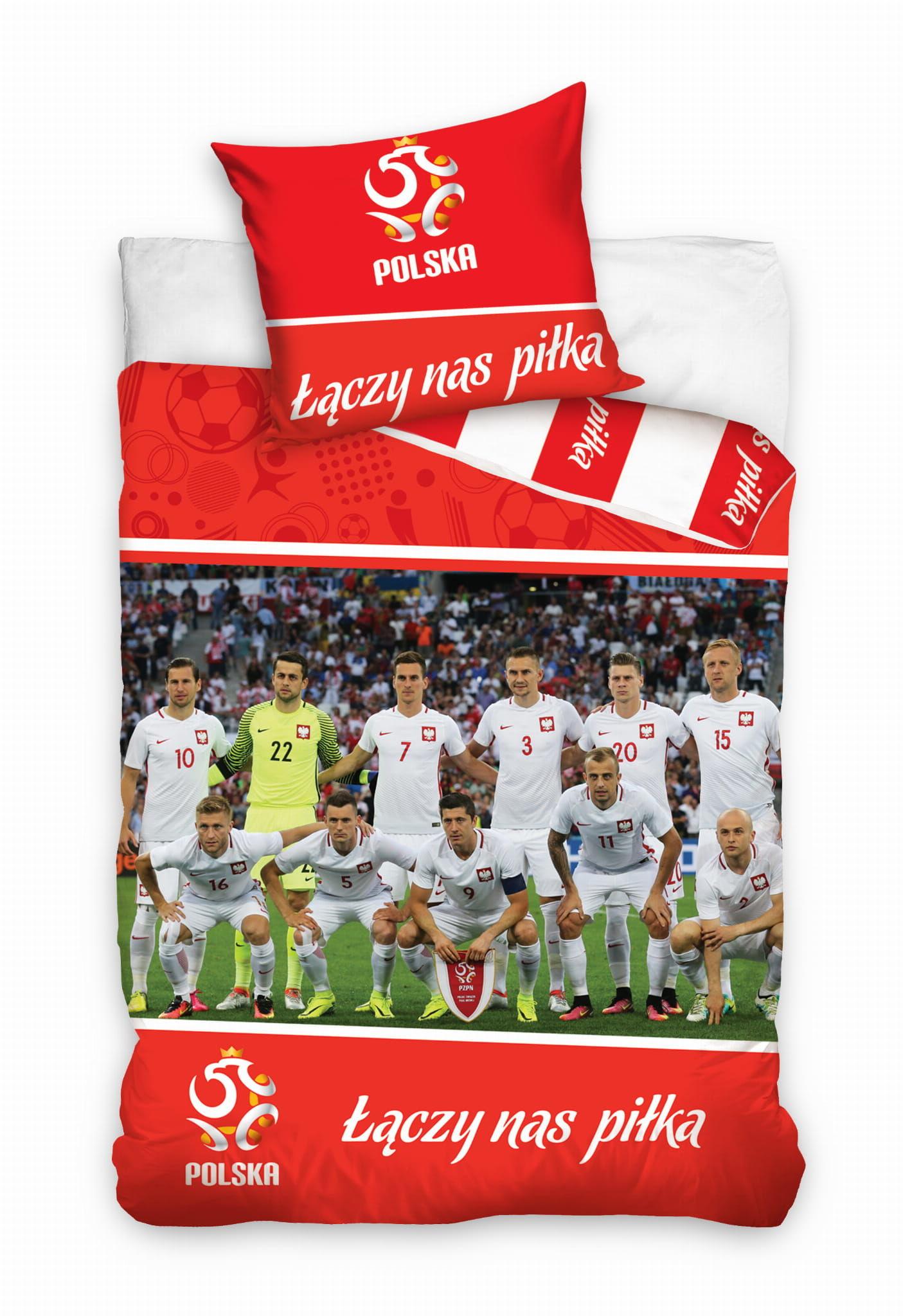 Pościel Piłkarska 160x200 PZPN Drużyna Team