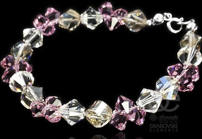 Kryształy piękna bransoletka Ametyst Silver SREBRO