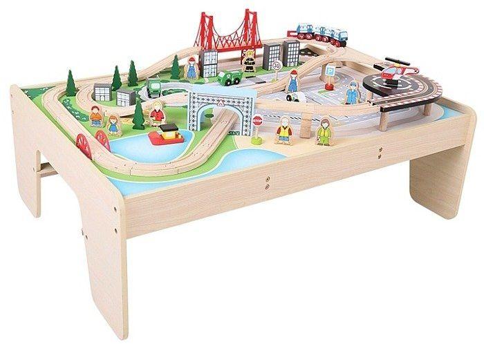 Drewniana kolejka Miasteczko BJT045-Bigjigs Rail, kolejka dla dzieci