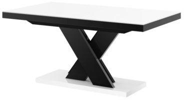Stół rozkładany XENON LUX biało-czarny wysoki połysk