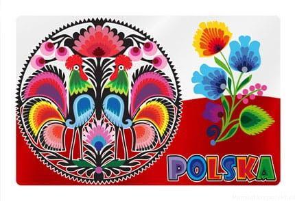 Magnes 2D zmieniające obrazy - Polska - wycinanki
