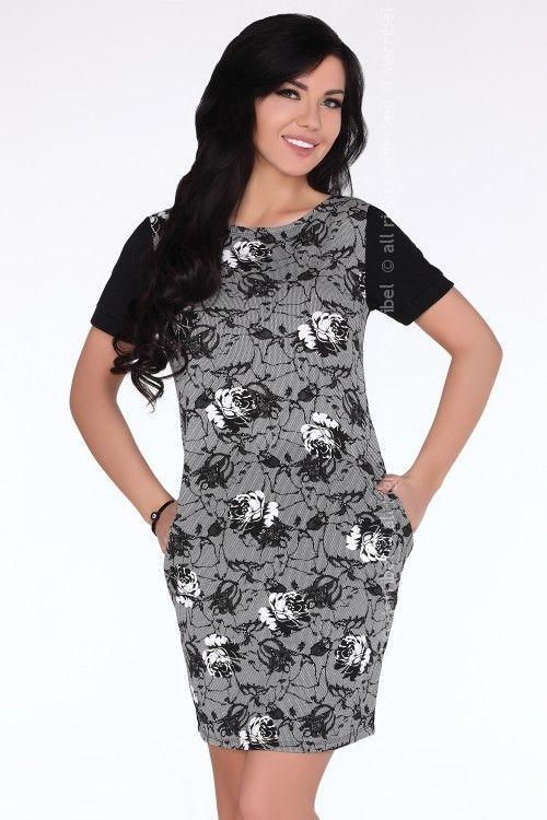 CG697 Print sukienka