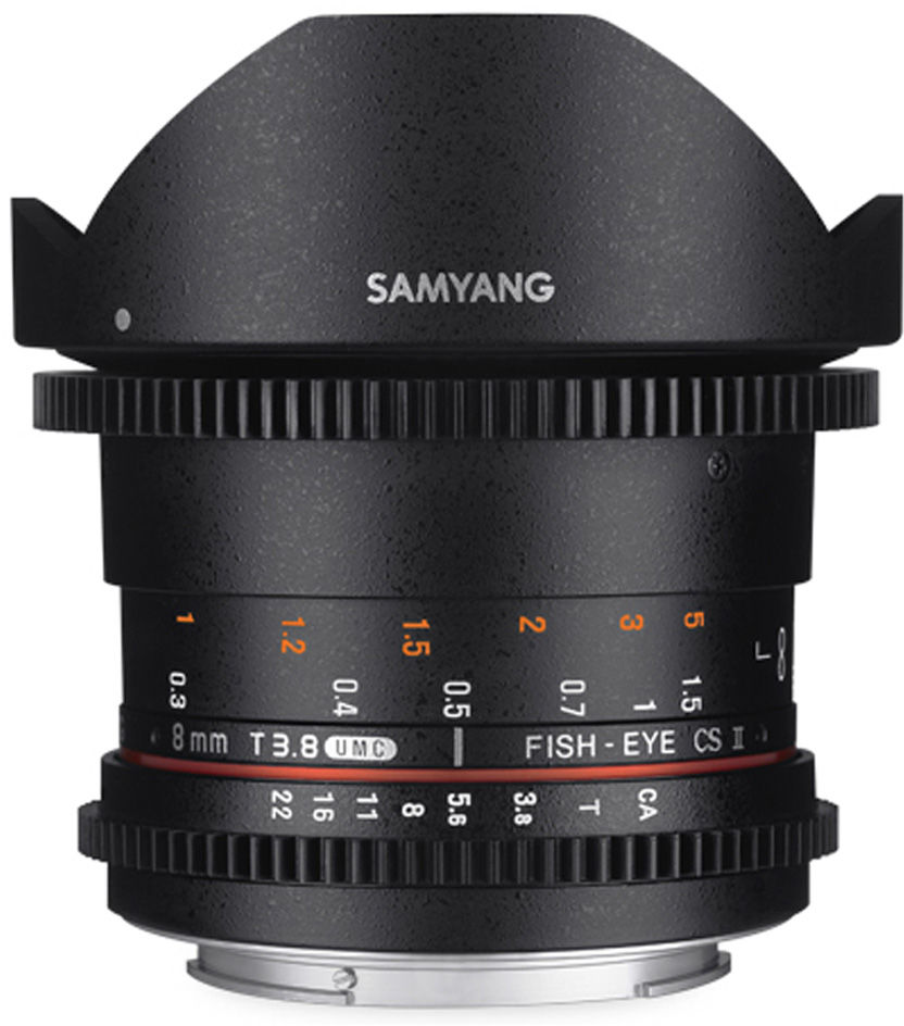 Obiektyw Samyang 8mm T3.8 VDSLR Fisheye CSII Nikon