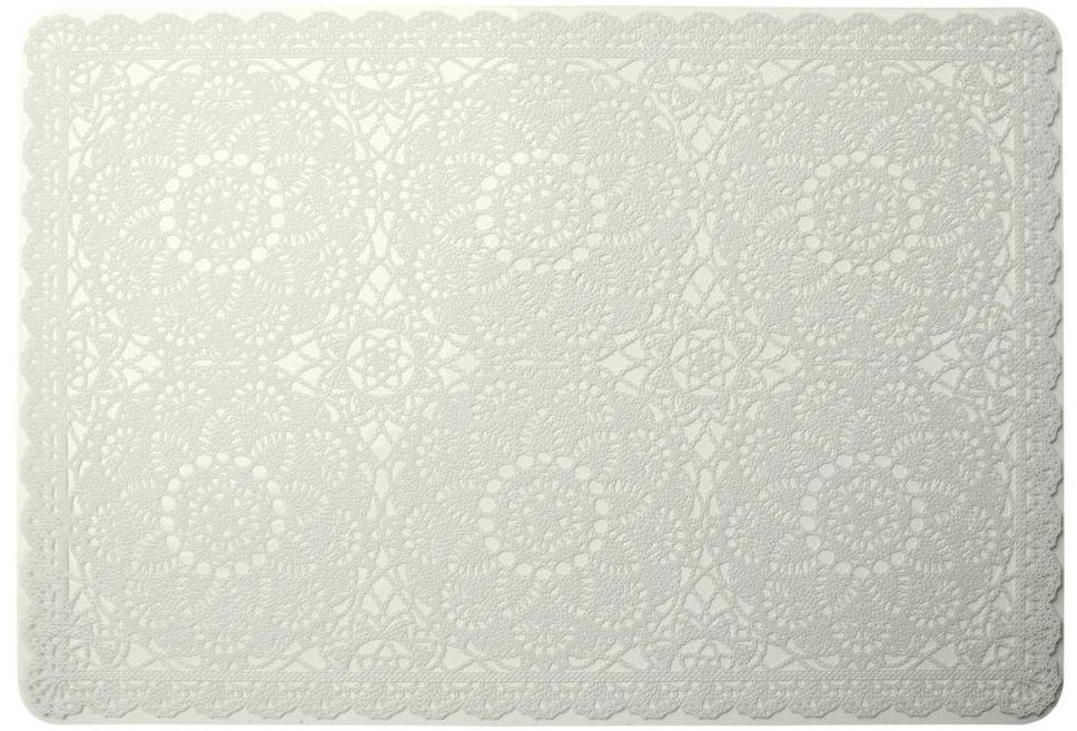 Podkładka na stół BISETTE prostokątna 44 x 30 cm kremowa