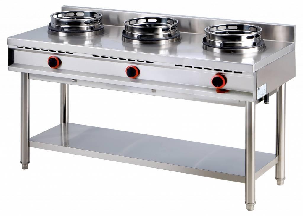 Kuchnia wok 3x10000W 1500x600x(H)800mm