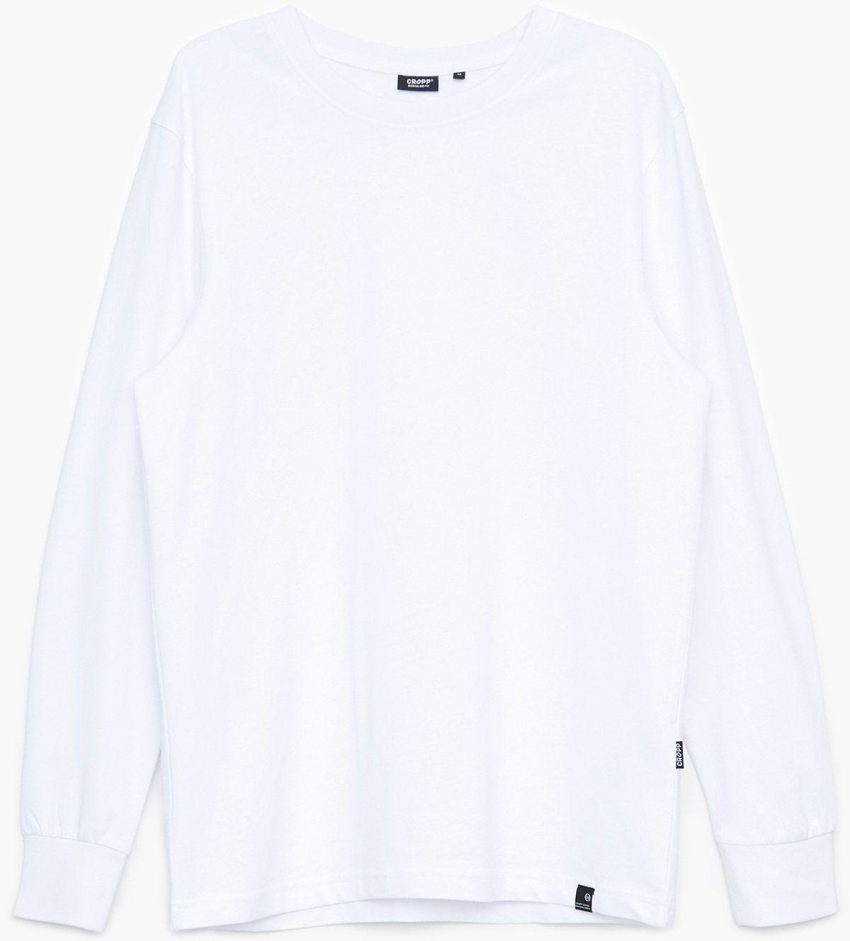 Cropp - Koszulka longsleeve - Biały
