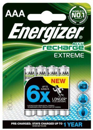 Akumulatorki Energizer R03/AAA Ni-MH 800mAh Extreme 4 sztuki