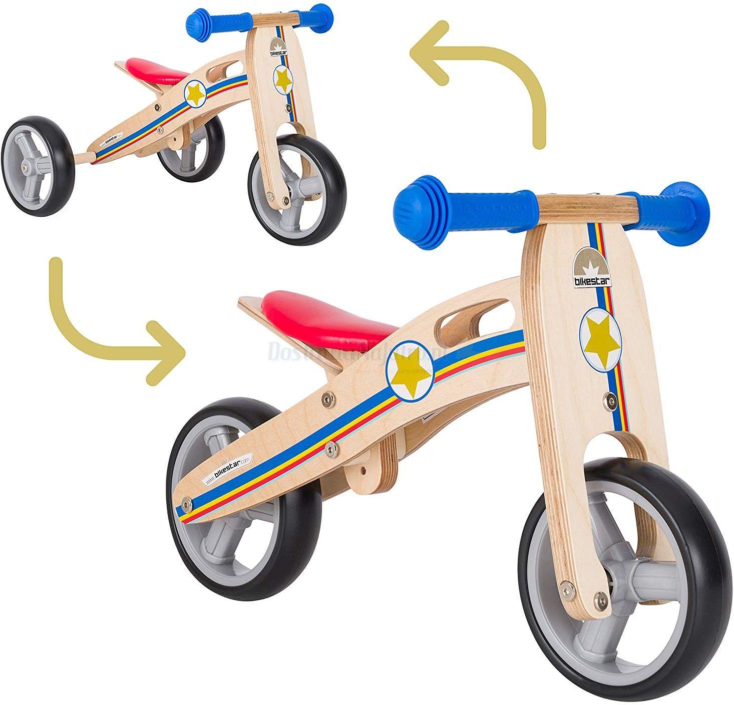 """Rowerek biegowy MINI trójkołowy 2w1 jeździk Bike Star 7"""" Twist"""