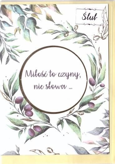 Karnet B6 Ślub cytat - Oliwki
