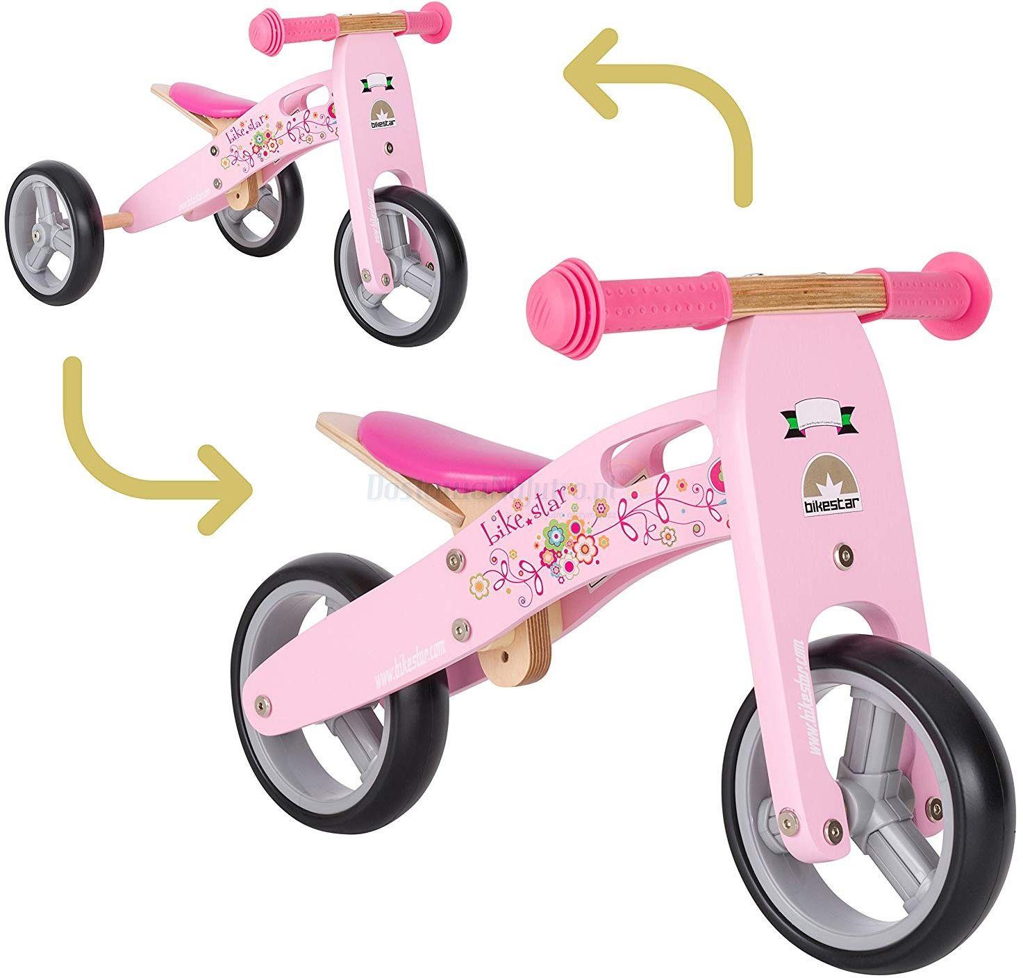 """Rowerek biegowy MINI trójkołowy jeździk Bike Star 7"""" Twist 2w1 różowy"""