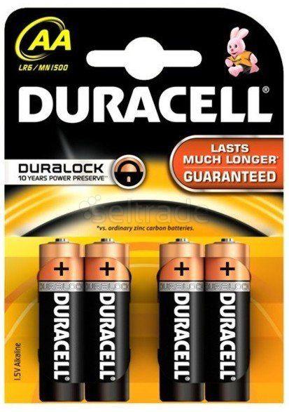 Baterie alkaliczne Duracell Basic C&B LR6 AA (blister) 4 sztuki