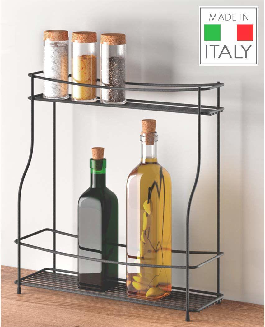Metaltex uchwyt na przyprawy i butelki, czarny, 35 x 12 x 37 cm