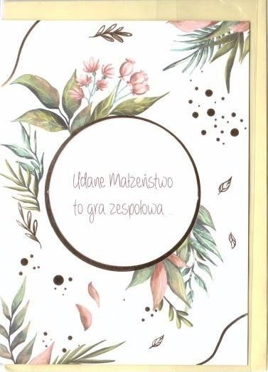 Karnet B6 Ślub cytat - Dzika róża