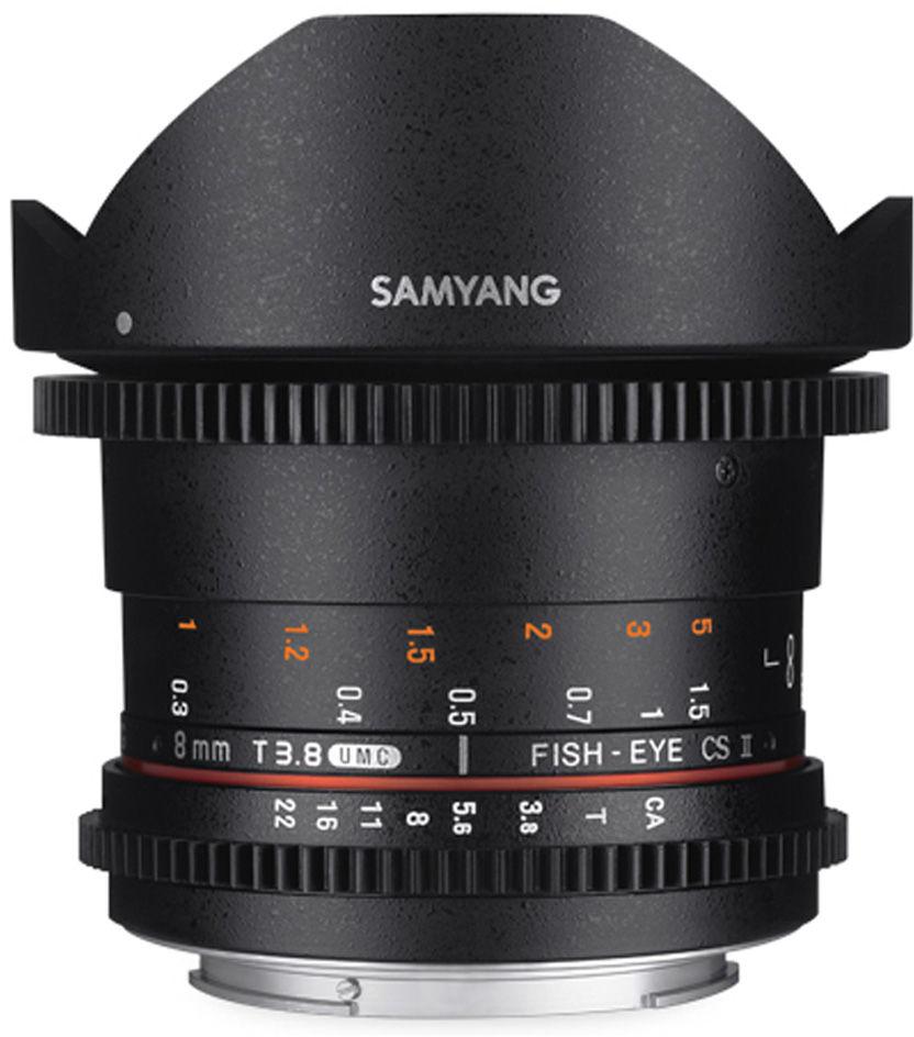 Obiektyw Samyang 8mm T3.8 VDSLR Fisheye CSII MFT