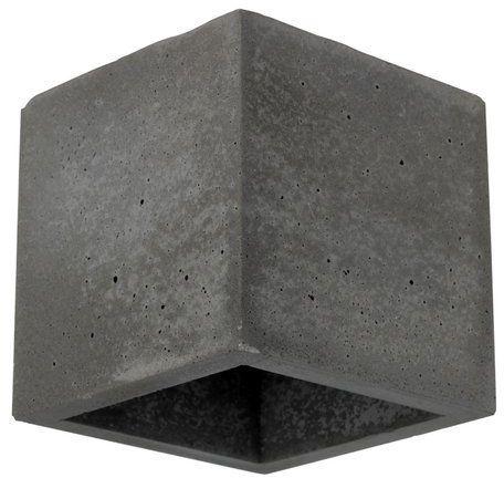 Kinkiet BLOCK 1-punktowa lampa o szarej betonowej podstawie 2255136