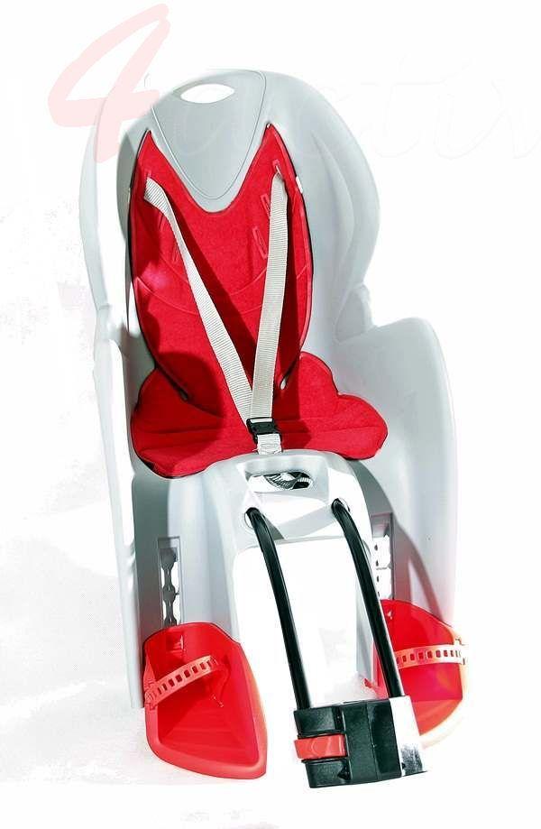 Fotelik rowerowy BIKE-GP red jasny