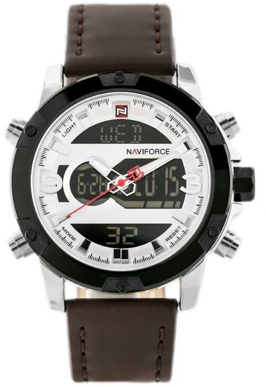 ZEGAREK MĘSKI NAVIFORCE - NF9097 (zn043a) - brown/silver