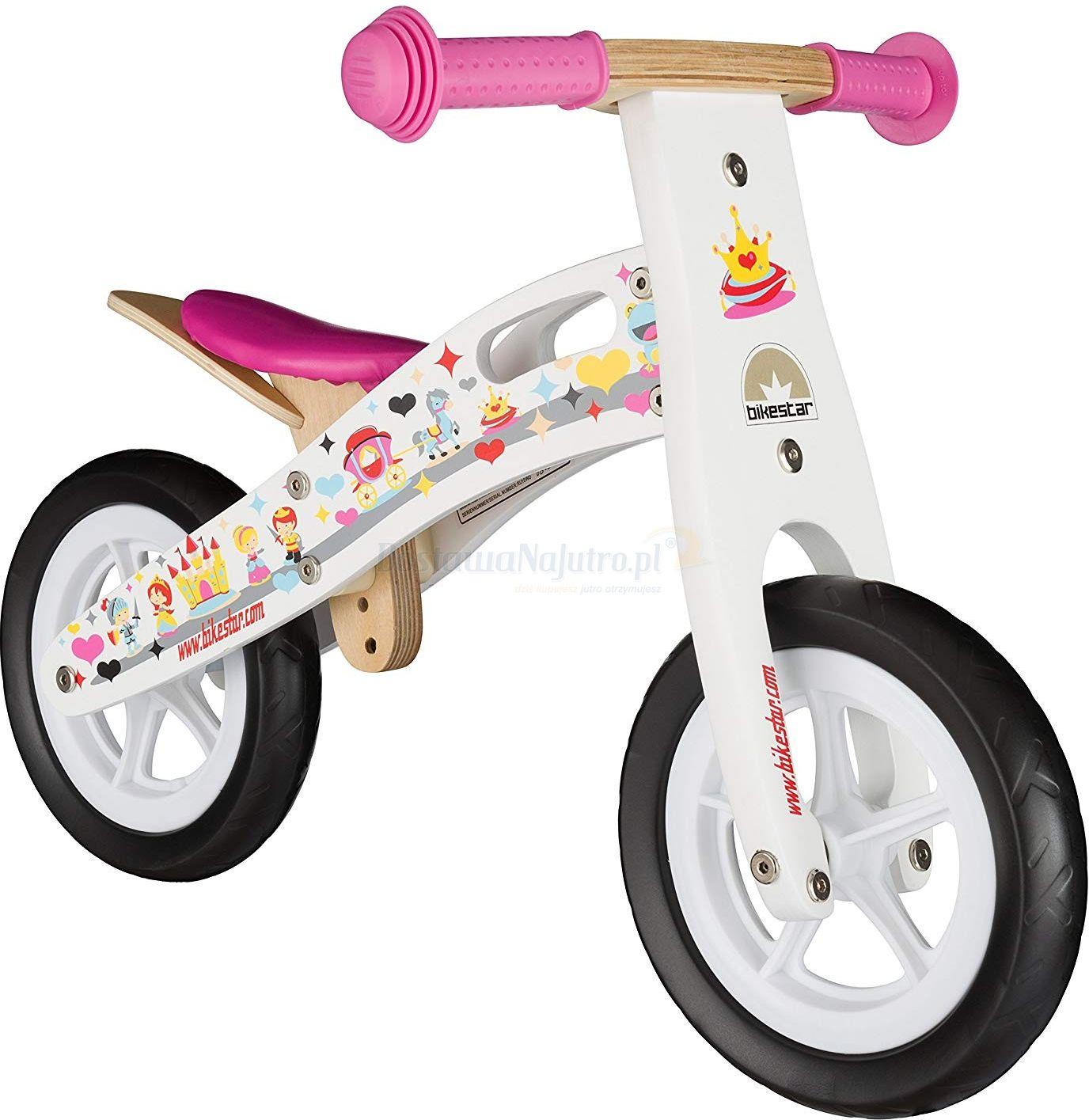 """Rowerek biegowy dwukołowy Bike Star 10"""" drewniana rama"""