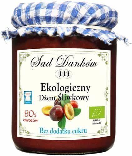 Dżem Śliwkowy Bez Cukru 260g EKO - Sad Danków