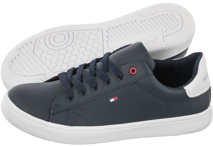 Sneakersy Tommy Hilfiger Low Cut Lace-Up Sneaker T3B4-31086-0193 X007 Blue/White (TH199-a)