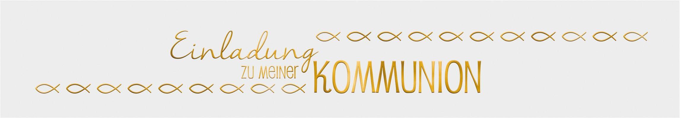 Ursus 57590010 - banderole, zaproszenie na komunię, 5 sztuk, biały/złoty