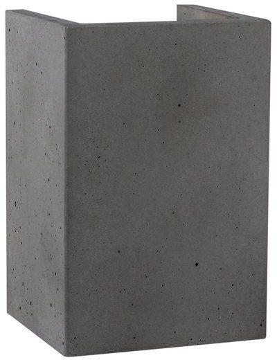 Kinkiet BLOCK 1-punktowa lampa o szarej betonowej podstawie 8973236