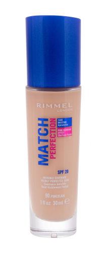 Rimmel London Match Perfection SPF20 podkład 30 ml dla kobiet 90 Porcelain