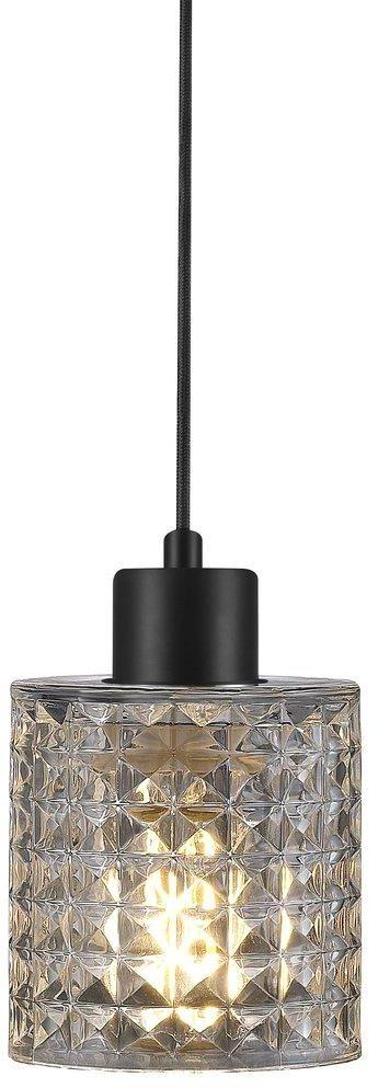 Lampa wisząca Hollywood Clear 46483000 Nordlux transparentna dekoracyjna lampa z czarnym przewodem