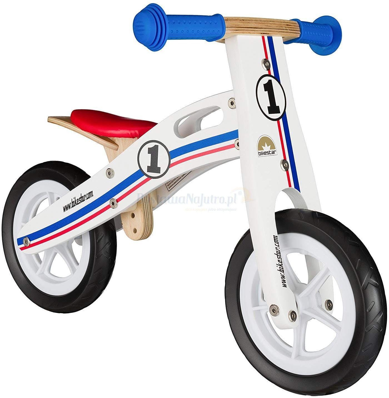 """Rowerek biegowy dwukołowy Bike Star 10"""" drewniana rama biały"""