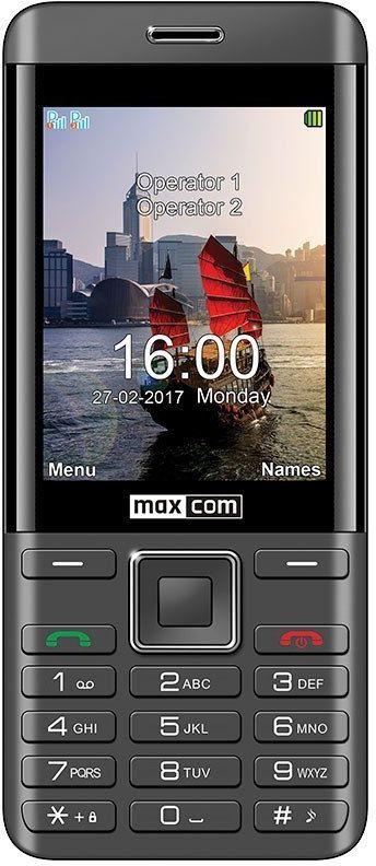 Maxcom TELEFON MM 236 CZARNO-SREBRNY DUAL SIM