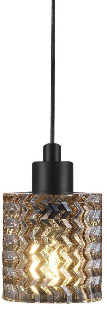 Lampa wisząca Hollywood Amber 46483027 Nordlux bursztynowa dekoracyjna lampa z czarnym przewodem