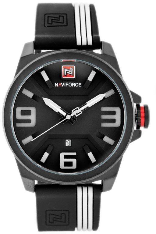 ZEGAREK MĘSKI NAVIFORCE - NF9098 (zn045b) - black/white
