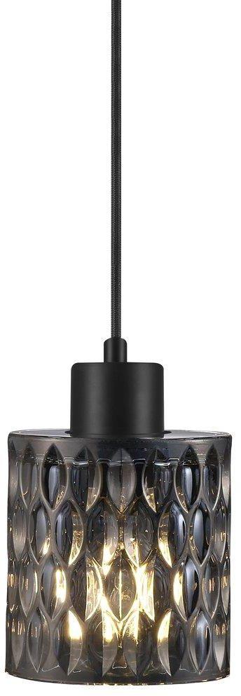 Lampa wisząca Hollywood Smoked 46483047 Nordlux przydymiona dekoracyjna lampa z czarnym przewodem