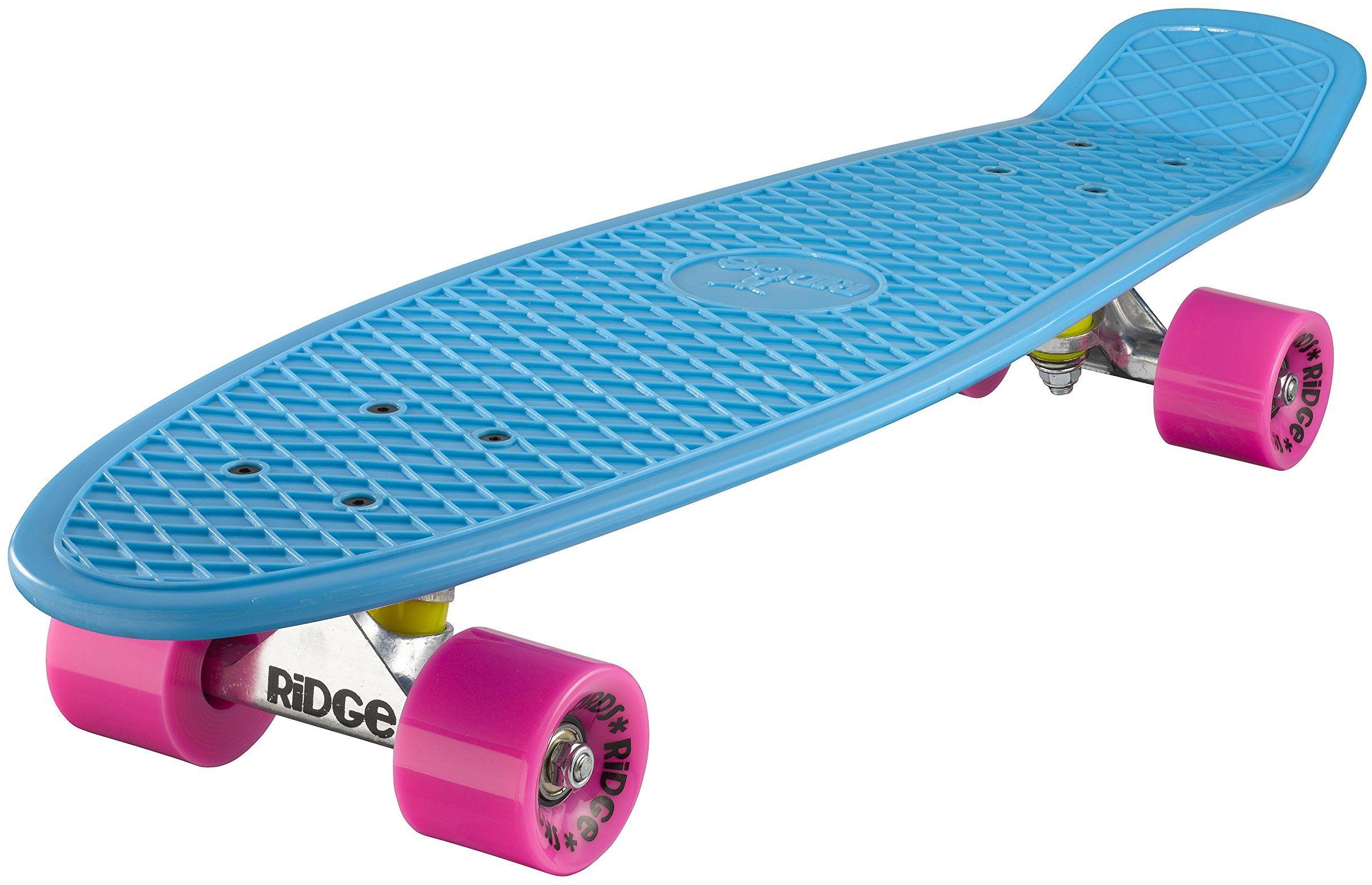 Ridge Deskorolka Big Brother nikiel 69 cm Mini Cruiser, niebieska/różowa