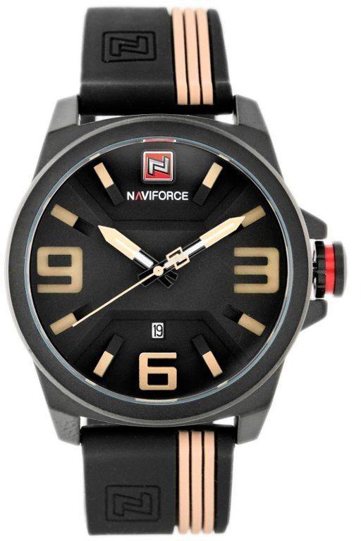ZEGAREK MĘSKI NAVIFORCE - NF9098 (zn045c) - black/beige