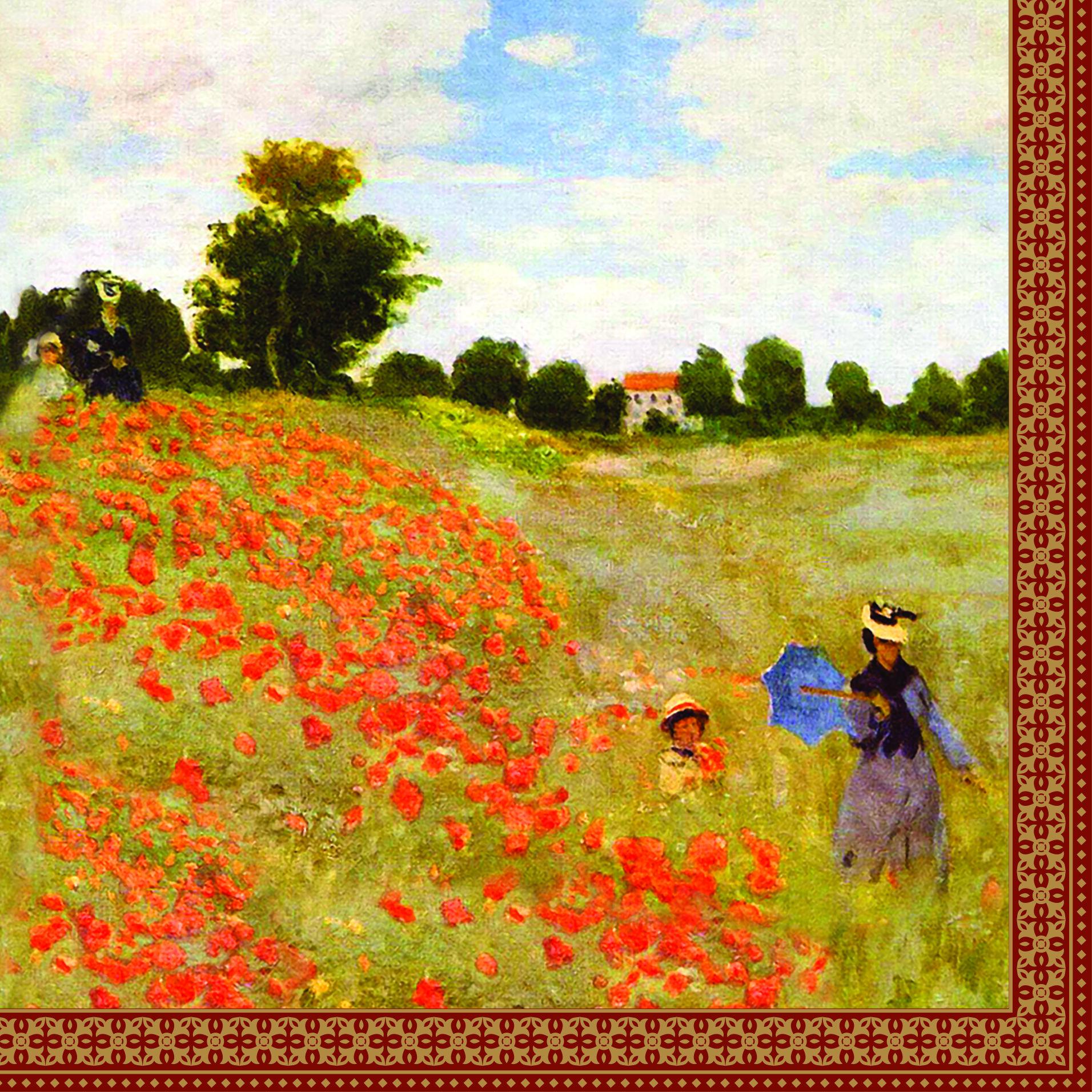 SERWETKI PAPIEROWE Claude Monet - Pole z makami