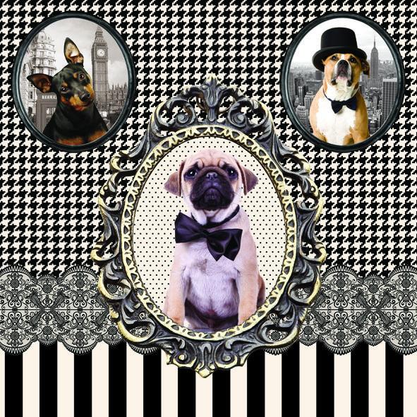 SERWETKI PAPIEROWE Vintage Dogs - Psy