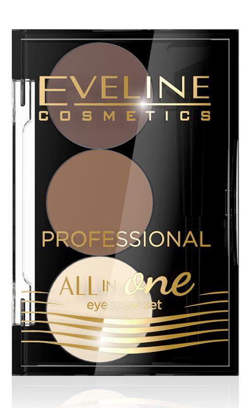 Eveline Cosmetics - ALL IN ONE Eyebrow Set - Profesjonalny zestaw do stylizacji i makijażu brwi