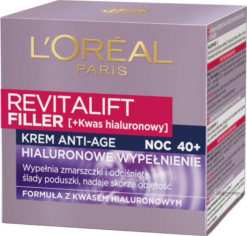 L''Oréal - REVITALIFT FILLER [HA] - Krem anti-age z kwasem hialuronowym na noc