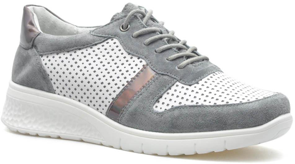 Sneakersy Filippo DP1389/20 WH GR Białe/Szare lico