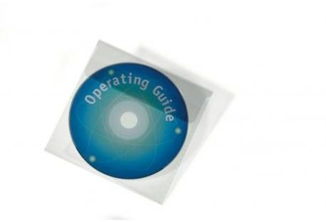 Koszulki na płyty CD/DVD z klapką 25 sztuk /524519/