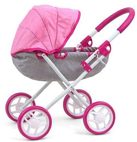 Milly Mally Wózek dla lalek Dori Prestige Pink