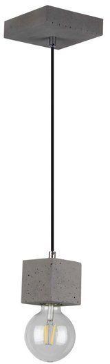 Lampa wisząca STRONG 1-punktowa lampa o szarej betonowej podstawie zakończona żarówką 60 W 7089136