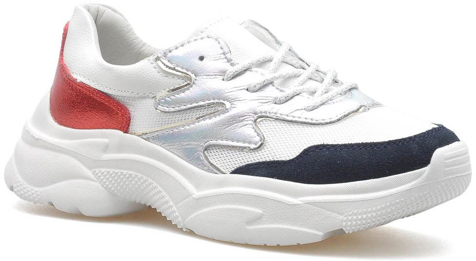 Sneakersy Filippo DP1410/20 WH RD Białe/Czerwone lico