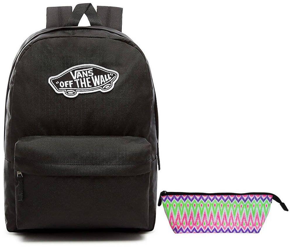 Plecak VANS Realm Backpack szkolny - VN0A3UI6BLK + Piórnik