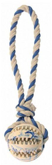 TRIXIE - Piłka ze sznurkiem denta fun 7cm